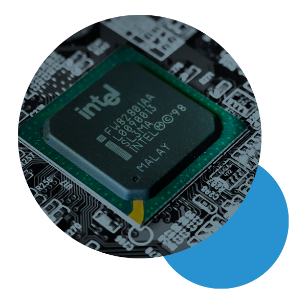 Intel computer chip graphic