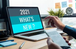 This is an image of a computer screen that says 2021 what's new?